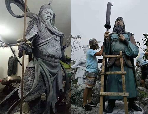 雕塑施工现场